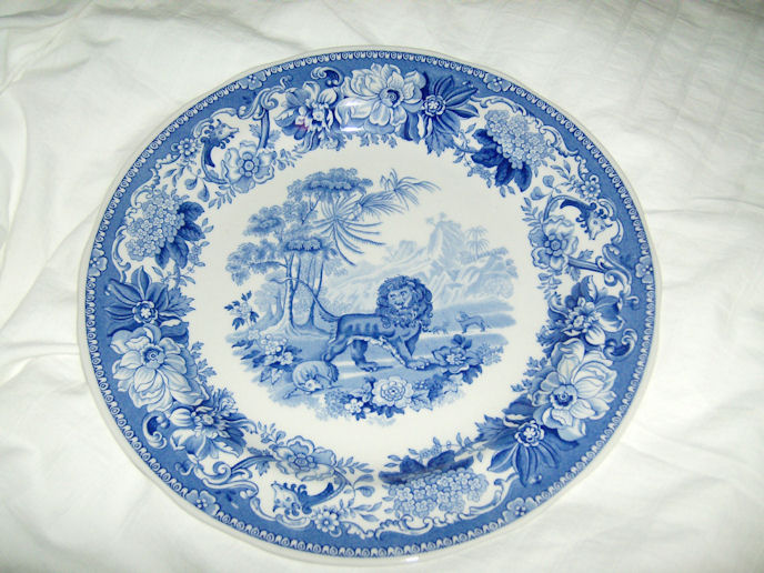 Reproduction Spode Dinner Plate, Aesop's Fables