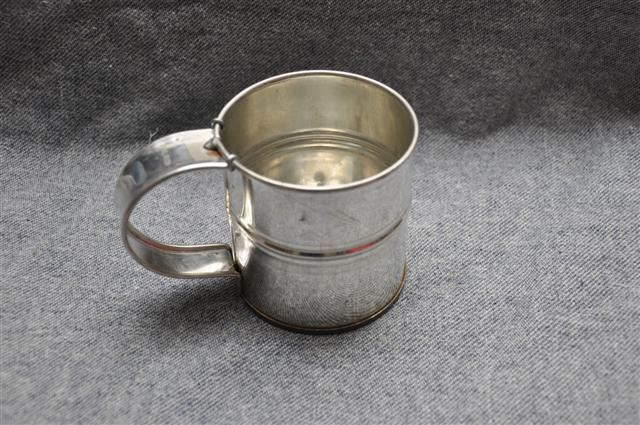 Banded Tin Cup