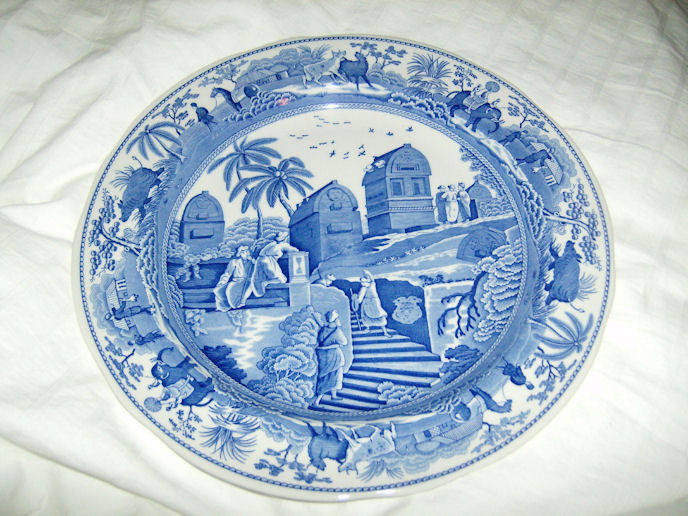 Reproduction Spode Dinner Plate, Caramanian