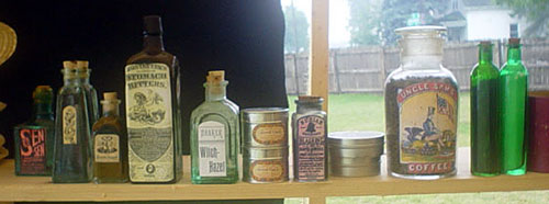 Sundries on shelf